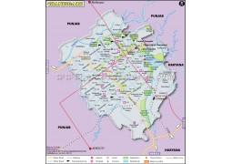 Chandigarh Map - Digital File