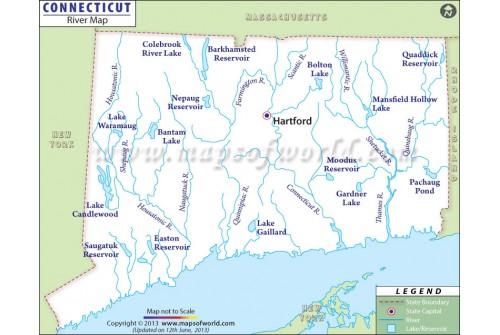 Connecticut Rivers Map