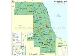 Cook County Map - Digital File