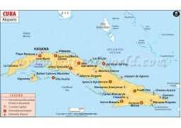 Cuba Airports Map - Digital File