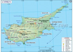 Cyprus Map - Digital File
