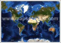 World Map in Van Der Grinten Projection