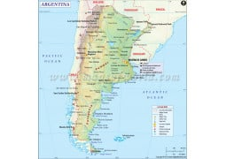 Buy Maps Online Maps For Sale At Mapsofworld Store - Argentina map for sale