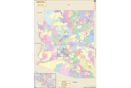 Arizona Zip Code Map