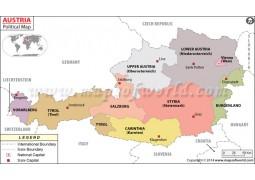 Austria Political Map - Digital File