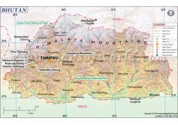 Bhutan Map - Digital File