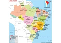 Brazil Map withCities