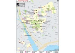 Brown University Rhode Island Map - Digital File