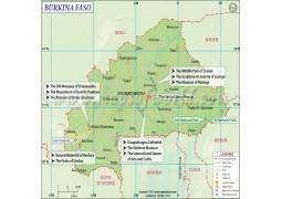 Burkina Faso Map - Digital File