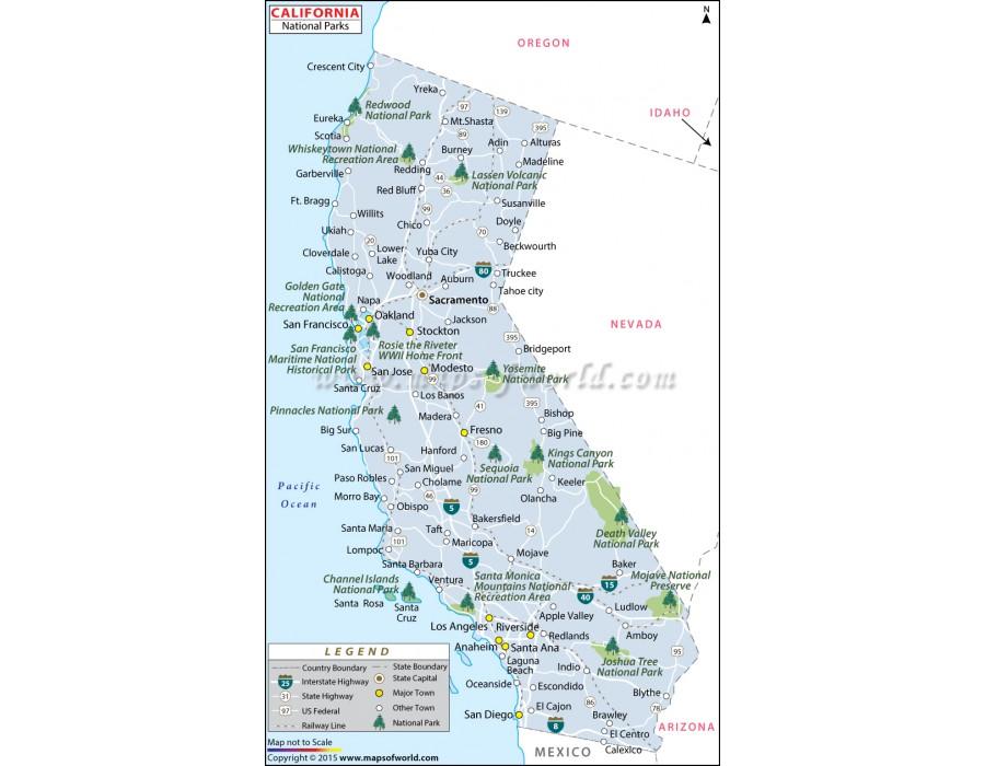 california national parks map swimnovacom