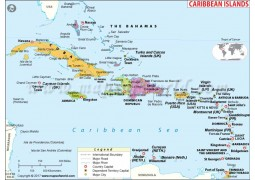 Caribbean Map - Digital File