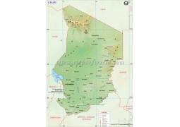 Chad Map - Digital File