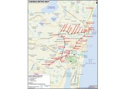 Chennai Metro Map - Digital File