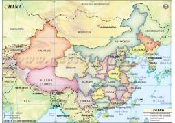 China States Map - Digital File