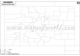 Colorado County Outline Map - Digital File
