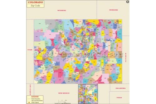 Colorado Zip Code Map