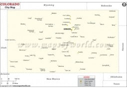 Colorado Cities Map - Digital File