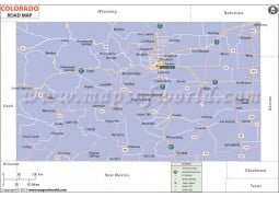 Colorado Road Map - Digital File