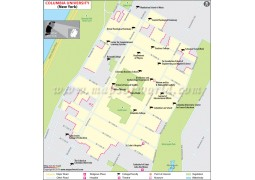 Columbia University in Manhattan New York Map - Digital File