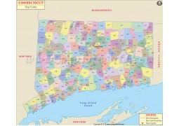 Connecticut Zip Code Map - Digital File