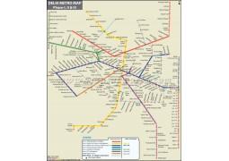 Delhi Metro Map - Digital File