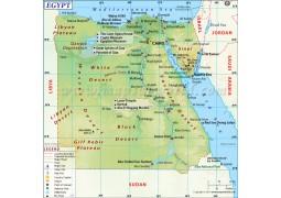 Egypt Map - Digital File
