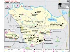 Emory University Georgia Map - Digital File