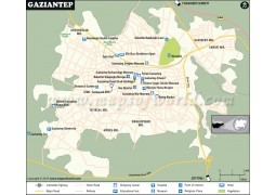 Gaziantep City Map - Digital File