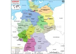 Political Map of Germany - Digital File