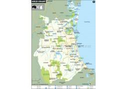 Gold Coast Map - Digital File