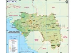 Guinea Map - Digital File