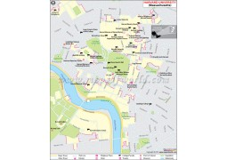 Harvard University in Cambridge Massachusetts Map
