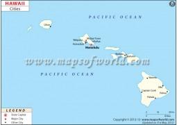 Hawaii Cities Map - Digital File