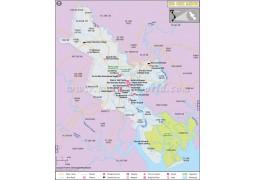 Ho Chi Minh City Map - Digital File