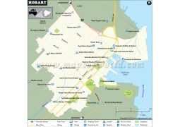 Hobart Map - Digital File