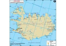 Iceland Latitude and Longitude Map - Digital File