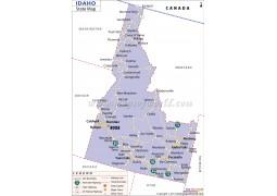 Idaho State Map - Digital File