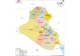 Iraq Political Map - Digital File