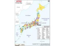 Japan Political Map - Digital File