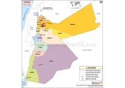 Political Map of Jordan