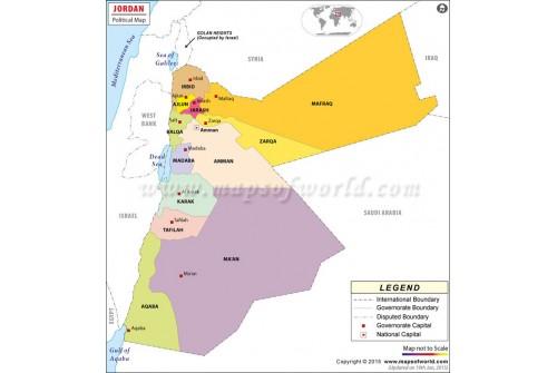 Buy Political Map Of Jordan