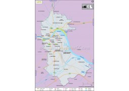 Linz City Map - Digital File