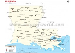 Map of Louisiana Cities - Digital File