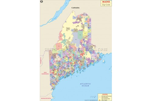 Maine Zip Code Map
