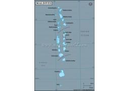 Maldives Latitude and Longitude Map - Digital File