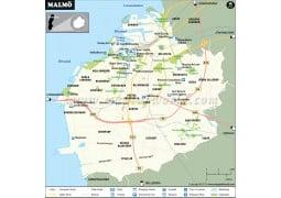 Malmo Map - Digital File