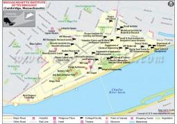 Massachusetts Institute of Technology Cambridge Map - Digital File
