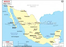 Mexico Map with Cities