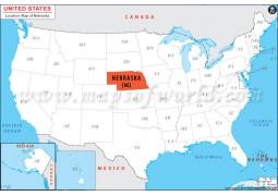 Nebraska Location Map - Digital File