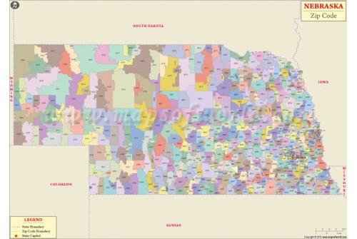 Nebraska Zip Code Map